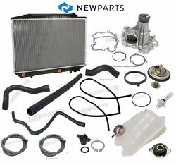 For Mercedes W126 420sel Radiator Water Pump Thermostat Expansion Tankandhoses-kit