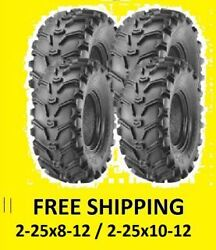 4 Six Ply Tires Rear 25x10-12 Front 25x8-12 Yamaha Grizzly 600 660 700 Rhino 450