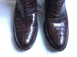 Black Jack Boots Style # 188~ Brown Brush-Off Goat  Alligator Belly Western