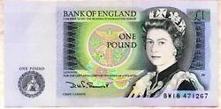 Bank Of England Money £1 One Pound Banknotes 1978 1981 Series D Page Somerset