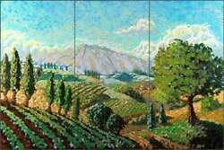 Vineyard Tile Backsplash Ceramic Mural Altman Mountain Art Landscape Rwa008