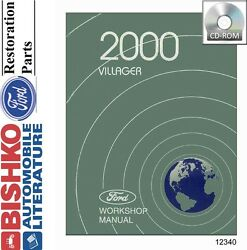 2000 Mercury Villager Van Shop Service Repair Manual CD Engine Drivetrain OEM