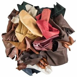 2 lb mixed leather for arts amp; crafts peices scraps crafts hobby X50 Gcd $19.85