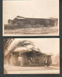 2 AZO RPPC real photo post cards of bulildings/same building? tropical climate