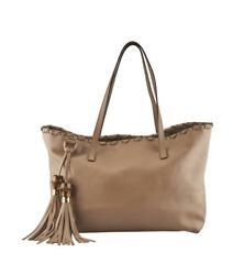 Gucci Bamboo Tassel Brown Leather Tote