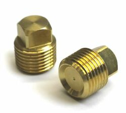 2 Pack Solid Brass Boat Hull Spare Garboard Drain Plug Sea Ray Bayliner Larson
