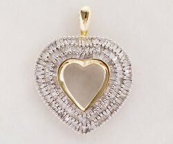 3.5 Carat Diamond Heart Pendant In 10k Yellow And White Gold