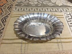 Wallace Art Deco 6-3/8 Sterling Silver Nut/candy Dish