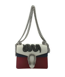 Gucci Mini Dionysus Embroidered WhiteRed & Blue Leather Crossbody Bag