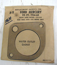 Vintage1954-60 Ford Mercury V8 8 Cyl Water Outlet Thermostat Housing Gasket