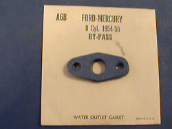 Vintage1954-56 Ford Mercury V8 8 Cyl Water By Pass Gasket
