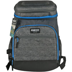 IGLOO MaxCold Insulated Cooler Backpack Gray $41.99