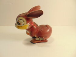 Vintage Wind-up Tin Toy Rabbit - Line Mar Toys, Japan Not Working