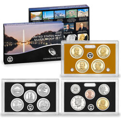 2013-s Us Mint 14 Coin Silver Proof Set With Parks And Presidents Ogp