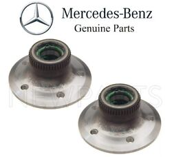 For Mercedes R170 W202 W208 W210 Set Of Two Front Wheel Hubs W/ Bearings Genuine