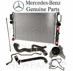 For Mercedes W211 Radiator And Water Pump Set 2 Radiator And Tank Hoses Kit Genuine