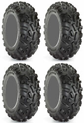 Four 4 Carlisle AT489 ATV Tires Set 2 Front 23x8-12 & 2 Rear 22x11-10 489 AT