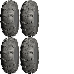 Four 4 Itp Mud Lite Xl Atv Tires Set 2 Front 28x10-12 And 2 Rear 28x12-12 Mudlite