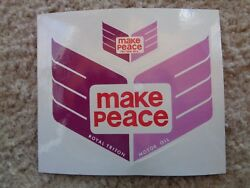 Make Peace Royal Triton Motor Oil Decal / Sticker - New Vintage 4 1/4 Inch