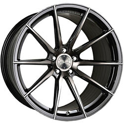 20 Vertini Rf1.1 Tinted Black Concave Wheels For Mercedes
