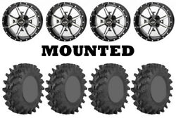Kit 4 Sti Outback Max Tires 32x10-14 On Frontline 556 Machined Wheels H700