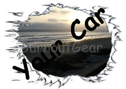 CUSTOM MADE T-Shirt with YOUR CAR & Sun Set Background Set Up Muscle Car Tees