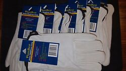 8 Pair Plumbbest Jones Stephens Corp. G50-208 Drivers Style Leather Gloves