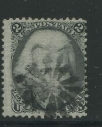 1868 Us Stamp 84 2c Used Fancy Cancel D. Grill Catalogue Value 4250 Certified