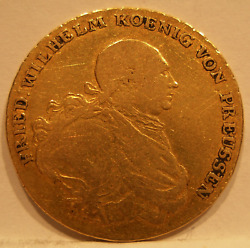 Germany Prussia 1791 A Gold Frederick D'or Vf