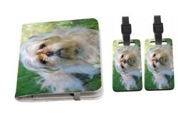 Yorkshire Terrier and Pug Mix Design Passport Holder with Luggage Tags