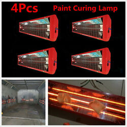 4 Sets Single-Tube DC220V 1000W Car Infrared Paint Curing Lamp Heater Lights Kit