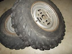 2007 Can Am Outlander 500 HO Front Rims Wheels 25X8-12 Tires 50% Tread