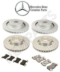 For Mercedes W218 X218 W212 S212 Front And Rear Disc Brake Rotors Pads Kit Genuine