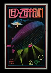 Led Zeppelin Black Poster Poster 13x19 inches