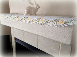 Dresser Scarf Mantel Or Shelf Lily Flower Lace 64 X 10.5 Easter Doily Spring