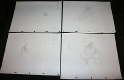 Tony The Tiger And Digand039em Frog Kelloggand039s Tv Cereal Animation 4pc Pencil Art 45