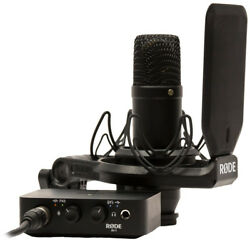 Rode The Complete Studio Kit Rode NT1 Ai USB Audio Interface Shock Mount Po