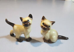 Two Small Vintage late 1970s Siamese