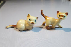 Two Small Vintage Mid 1970s Siamese