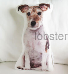 TERRIER MIX DOG PILLOW Photograph on fabric 15 inch with zipper cover SALE
