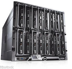 Dell PowerEdge M1000E Blade Enclosure with 8 x M600 Quad Core 3.0 Blade Servers
