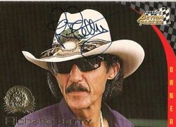 Richard Petty Action Packed Pinnacle 1996 Hofer 43 Signed Card Free Shipping
