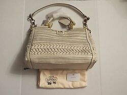 Coach Madison Pleated Gathered Leather Caroline Parchment 19848 NWT