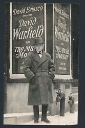 1905 David Warfield Posed In Front Of Advertising Poster Vintage Photo