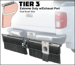 Towtector Mud Flap 96x26 Dual Brush Strips W/ Exhaust Port - 2 Receiver