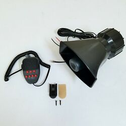 100w 12v Siren Horn Loud Speaker Car Truck Police Fire + Mic System 7 Tone Sound