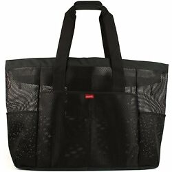 Oahu XXL Mesh Beach Bag Tote Extra Heavy Duty with Zipper 8 Large Pockets and
