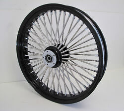 Mammoth Fat 52 Spoke Black And Silver Wheel 23x3.5 Touring Softail Dyna Harley