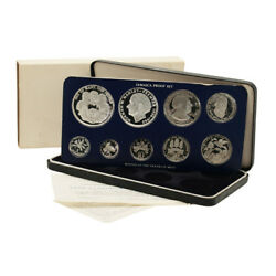 Jamaica Official Proof Set 9 Coins 1978 Case And Coa Ps16 Mintage 6,058 Sets