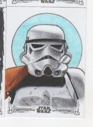 2018 Star Wars Black And White Sketch Card Tom Amici